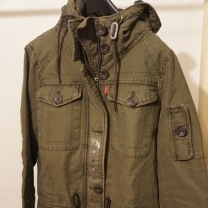 Levi's Women's Cotton Four Pocket Hooded Jacket